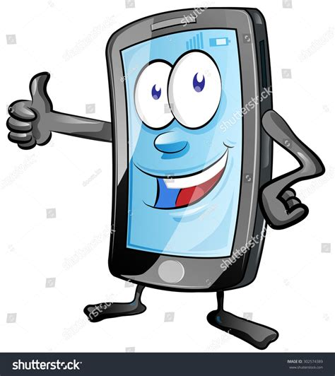 Image Search Mobile Phone Mobile Phone With Thumbs Up Stock Vector Illustration 302574389