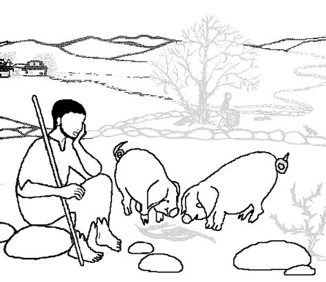 prodigal son coloring pages preschool parable of the lost son coloring page