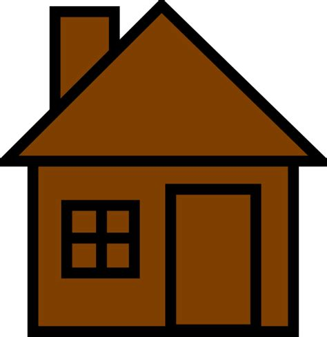 brown house brownhouse clip art at clker com vector clip art online royalty free public domain