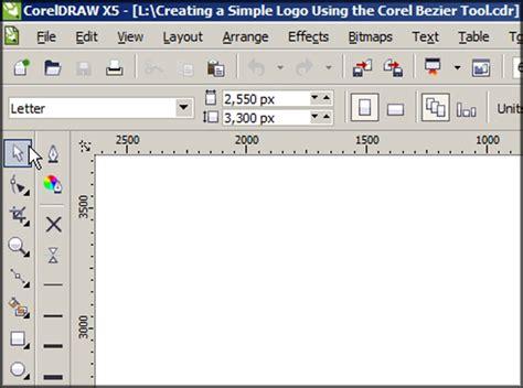 tutorial vector real coreldraw cmva creating a simple logo using the coreldraw bezier tool