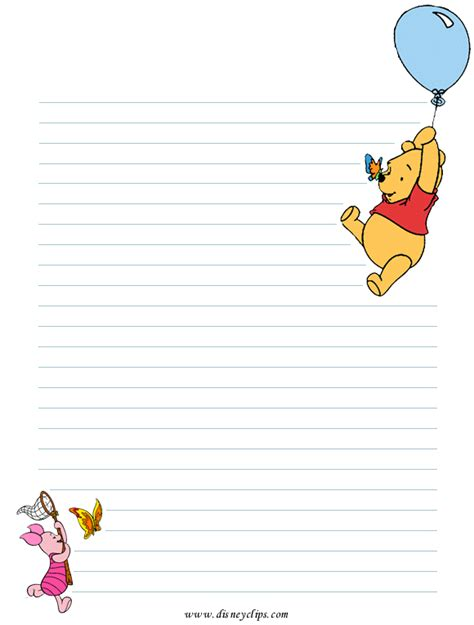 winnie the pooh writing paper winnie the pooh and friends printables disney s world of