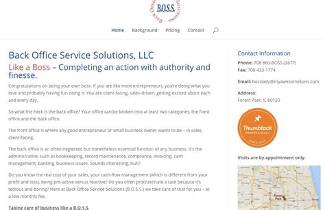 back office service solutions llc bannor bannor inc