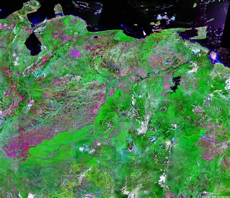 venezuela map  satellite image