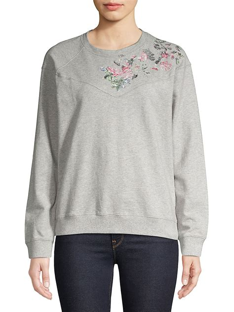 Floral Embroidered Pullover floral embroidered pullover walmart
