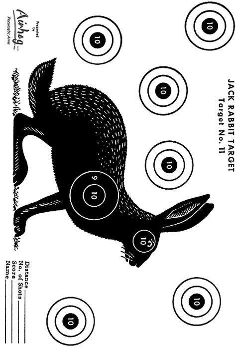 printable rabbit shooting targets printable shooting targets 8 5 x 11 wesharepics