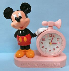 mickey mouse talking alarm clock disney japan battery operated ebay