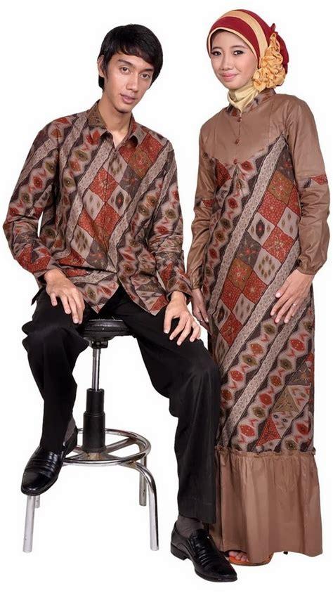 model baju batik terbaru wanita pria modern 2014