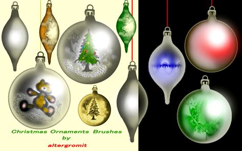 christmas ornaments brushes by altergromit on deviantart