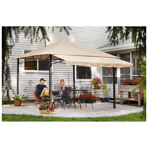 Castlecreek Retractable Awning by Castlecreek 10 X10 Gazebo With Awning Steel Frame