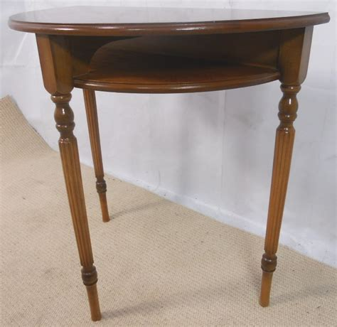 Yew Wood Console Table Antique Georgian Style Yew Wood Bowfronted Console Table
