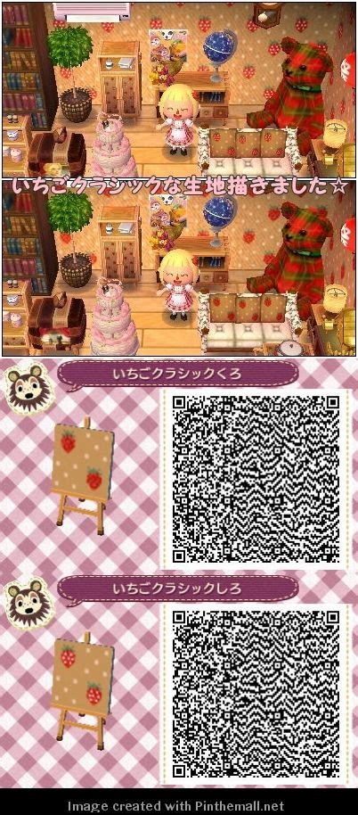 animal crossing pink wallpaper qr codes animal crossing nl qr codes strawberry wallpaper