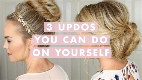 3 stunning updos that you do on yourself hair tutorial