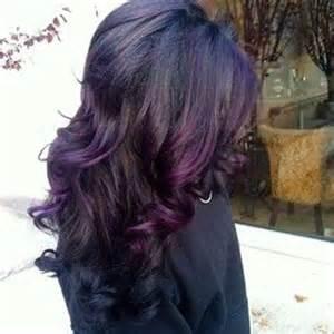 purple hair black cute purple hair highlights for 2017 new hair color