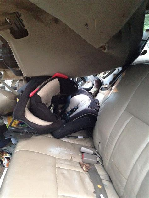 rear facing child seat rear facing child seat saves a two year baby s
