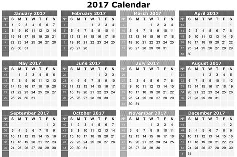 printable calendar 2017 download download calendar 2017 free 2017 calendar printable for