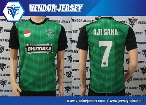 bikin desain baju futsal online pesanan baju bola futsal bhinneka fc dari jakarta vendor