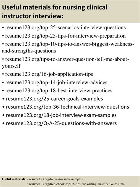 Clinical Instructor Resume Top 8 Nursing Clinical Instructor Resume Sles