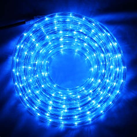 8m blue led rope light indoor outdoor use lights4fun