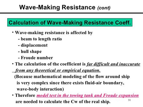 ship displacement formula basics of ship resistance