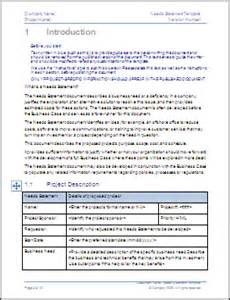 business needs template business needs statement template ms word 2003 2007