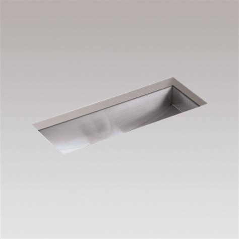 stainless steel trough sink kohler icerock trough 3179 stainless steel sink kitchen