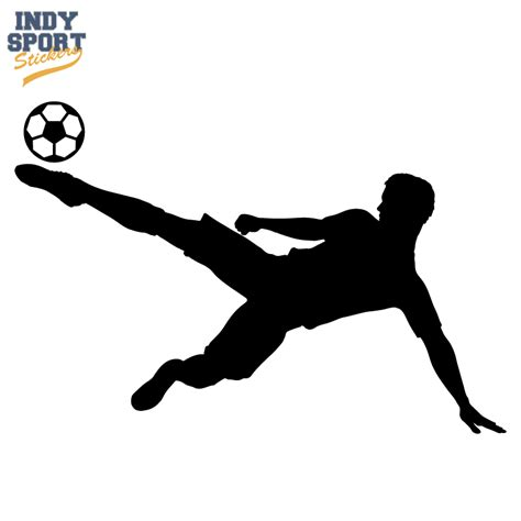Door Designs by Soccer Player Silhouette Sidekick Ball Car Stickers And