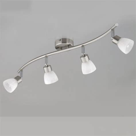 glas beleuchtung led schiene deckenleuchte design deckenle spot schiene stahl glas