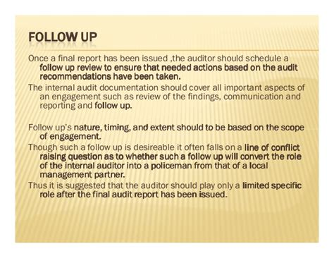 audit follow up template audit report writing