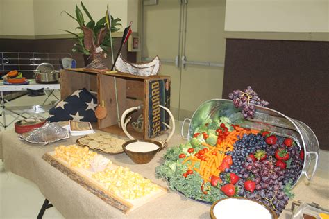 Prissilia Indiana Food Court Table food table displays beautiful buffets designed to make