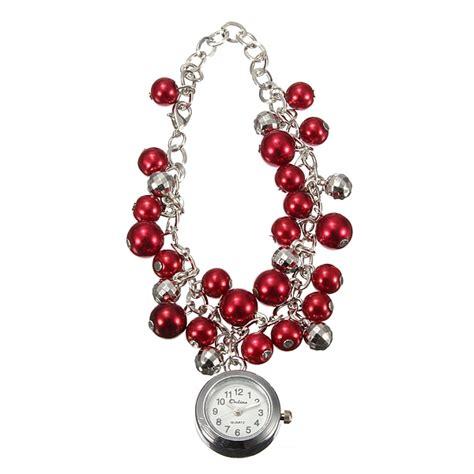 Fashion Bangle Bracelet Beaded Quartz Wrist fashion cuff quartz chain bracelet wrist alex nld