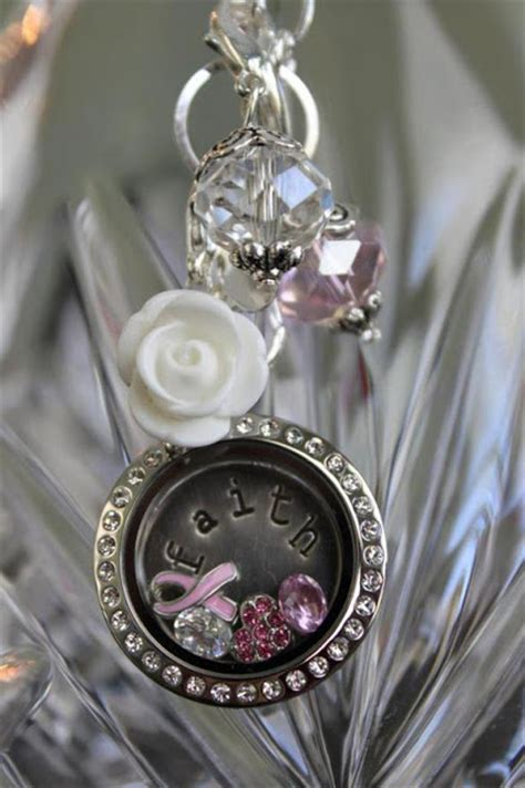 Origami Owl Charm Necklace - cancer faith origami owl living locket origami owl at
