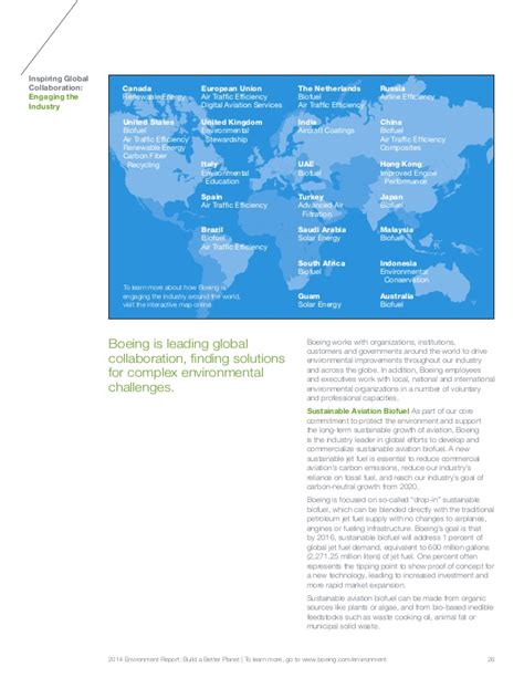 Boeing 2014 Environment Report by 2014 Environment Report