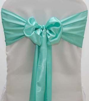 satin chair sash seafoam green