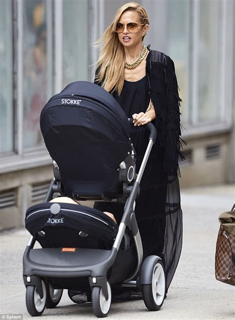 albee baby carriage new york zoe steps out with colour coordinated baby stroller