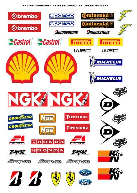 Racing Sticker Kit racing sponsors sticker kit