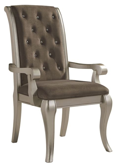 birlanny gray dining upholstered arm chair set of 2 from