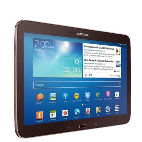 Tablet Samsung Wifi Only samsung galaxy tab 3 wifi 10 1 inch tablet 16 gb golden brown grade a refurb computing zavvi