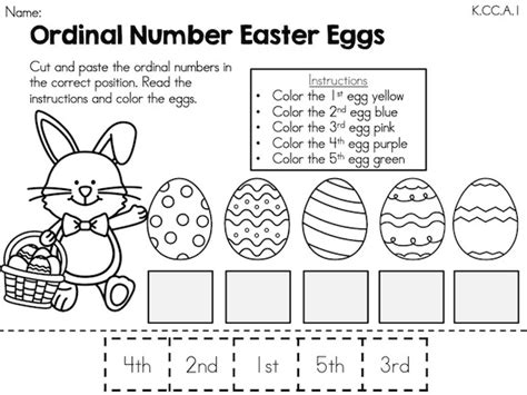 worksheets for preschool easter easter kindergarten math worksheets common core aligned