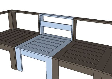 diy section ana white simple modern outdoor sectional armless