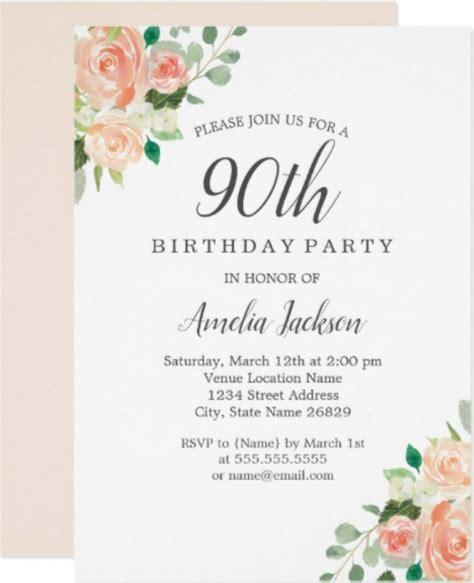 90 birthday invitation card template 11 90th birthday invitations designs templates psd