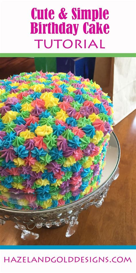 7 Adorable Ways To Decorate A Cake by Rainbow Birthday Cake Colourful Cake Birthday And