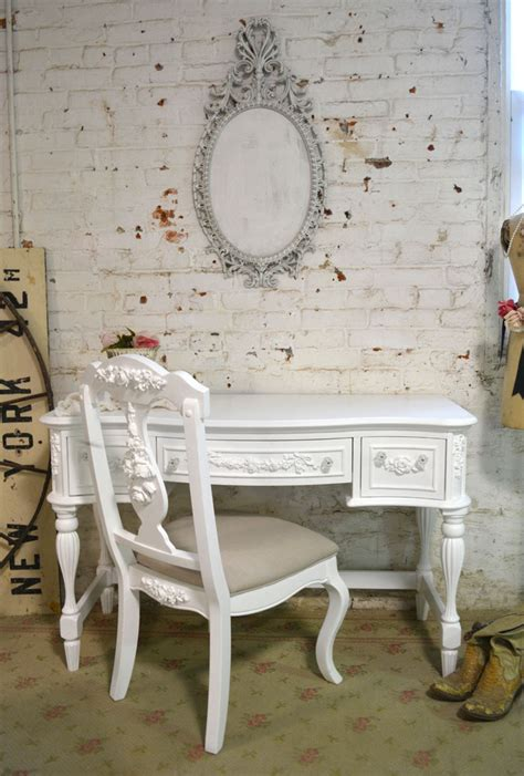 painted cottage chic shabby french dining desk chair