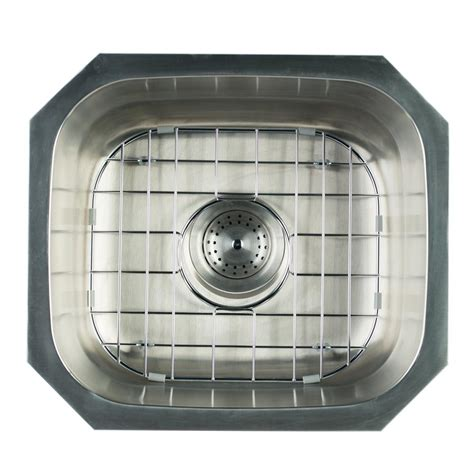 Glacier Bay Stainless Steel Kitchen Sink Glacier Bay Undermount Stainless Steel 16 In Single Bowl Kitchen Sink With Grid And Strainer