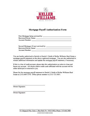 Mortgage Consent Letter Payoff Letter Fill Printable Fillable Blank Pdffiller