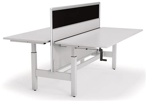 manual height adjustable desk axis manual height adjustable desk with screen office stock
