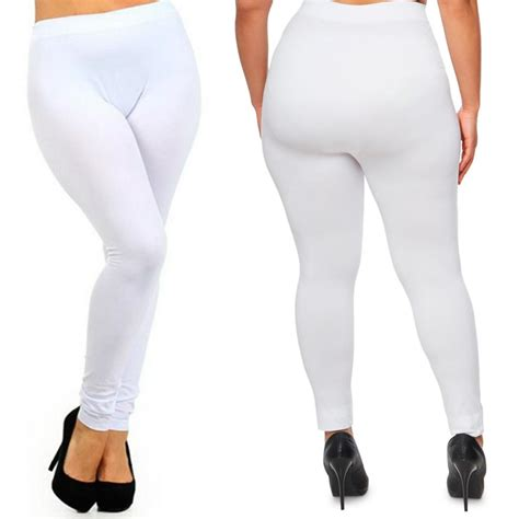 Size Xl Celana Katun Stretch 7 8 Legging Katun 7 8 Merk 3r plus size seamless footless stretch legging spandex xl 2xl ebay