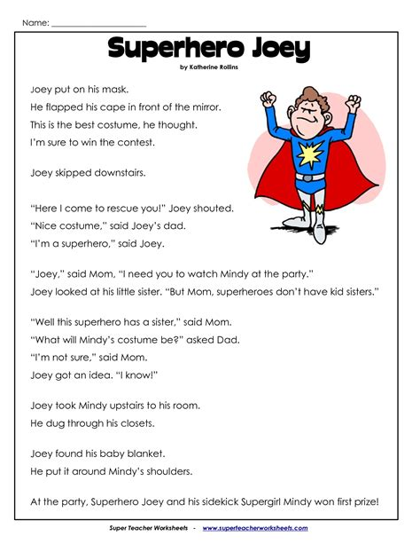 printable reading comprehension worksheets 2nd grade 8 best images of printable reading worksheets for 2nd