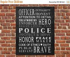 police officer home decor to serve and protect on pinterest thin blue lines