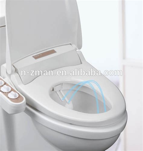 bidet toilet seat attachment with dual nozzles dual self cleaning nozzle bidet toilet seat fresh and warm