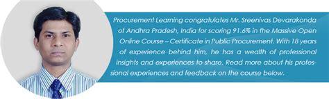 Mba In Procurement Management In India by Sreenivas Devarakonda Procurement